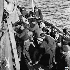 Rescue by the SS. Hurricane