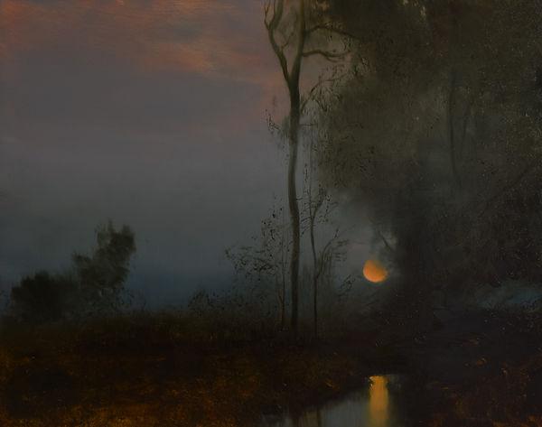 Moon Fall - 16 x 20