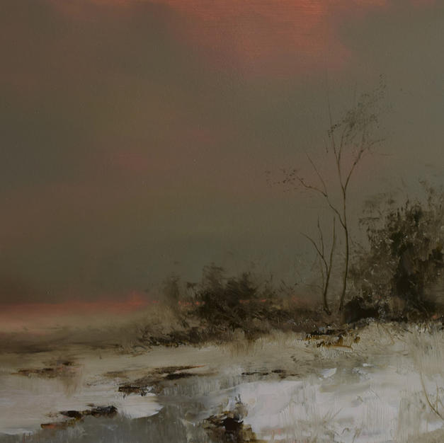 Winter Evening - 14 x 18