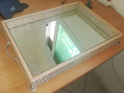 Plateau de service profond avec miroir