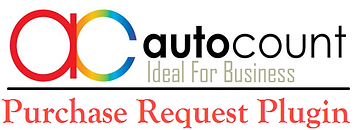 autocount dengan plug in purchase request