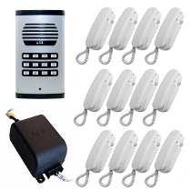 KIT Porteiro Eletrônico Coletivo de 12 Pontos AGL