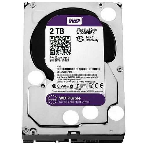 Hd Interno Wd Purple 2 Tb Sata 6gb/S 7200 Rpm Para Vigilância/Dvr Wd20purx