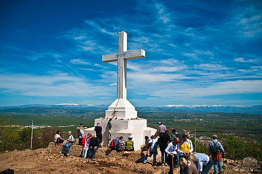 """""""Medjugorje cross"""" by CJ - Bosnia and Herzegovina Apr-26-2012 171Uploaded by Smooth_O. Licensed under CC BY 2.0 via Commons - https://commons.wikimedia.org/wiki/File:Medjugorje_cross.jpg#/media/File:Medjugorje_cross.jpg"""