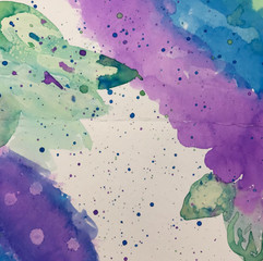 Salt Water Color painting on paper