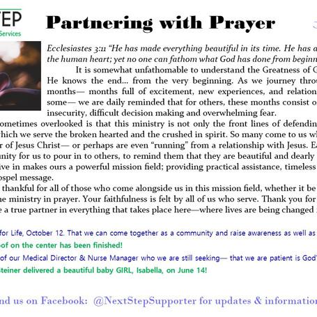 June Prayer Card