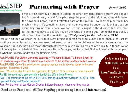 August Prayer Card