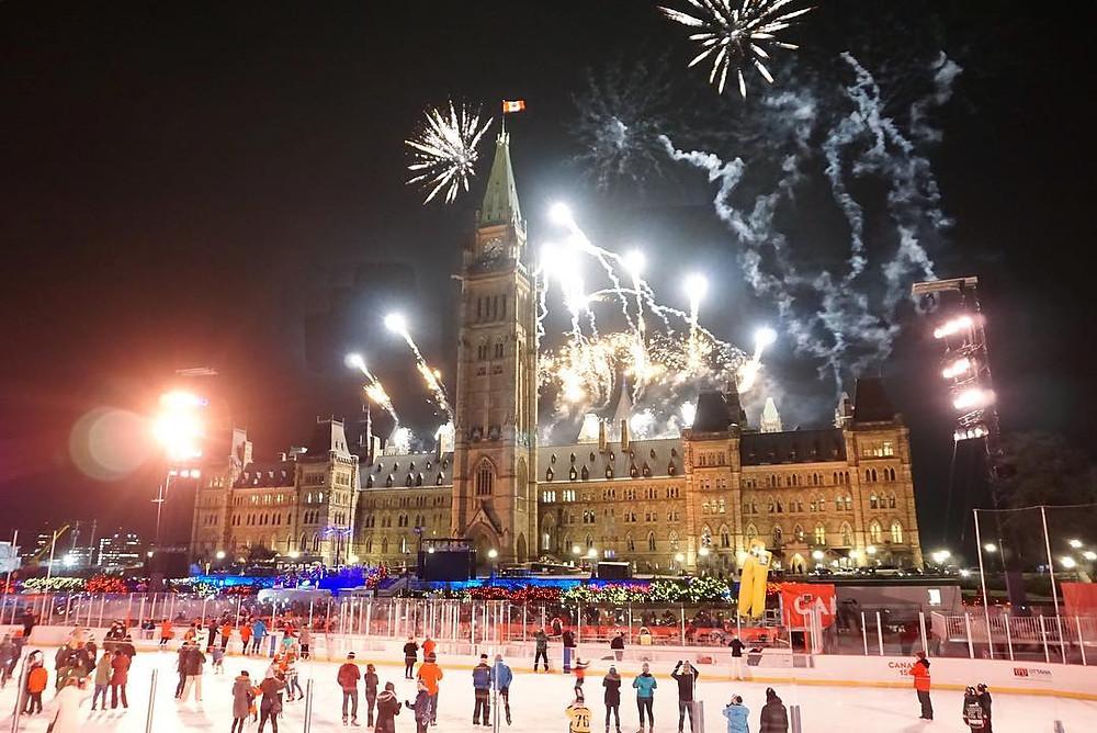 Ottawa Parliament Hill Light Show