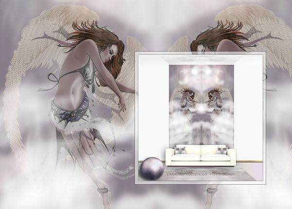 wandtapete-engel