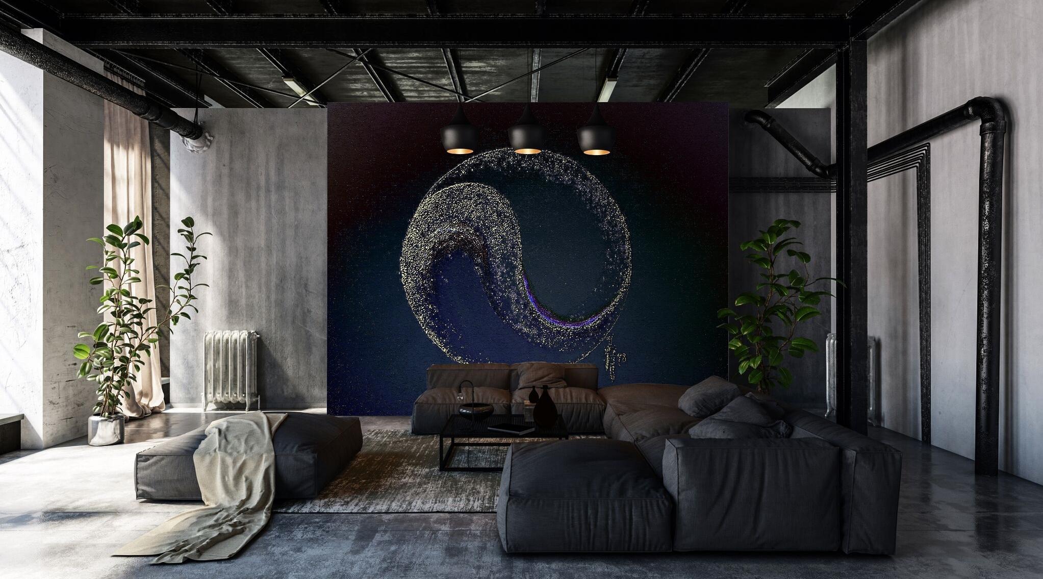 kunst-tapeten design esotericism yin & yang