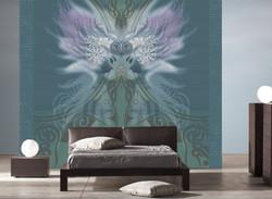 kunst-tapeten design fantasy style brain