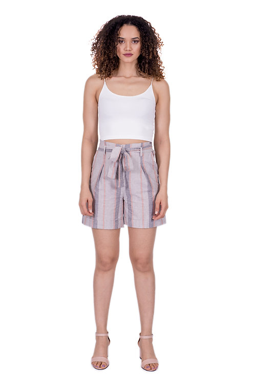 CHARLOTTE CANDY STRIPPED GREY SHORT