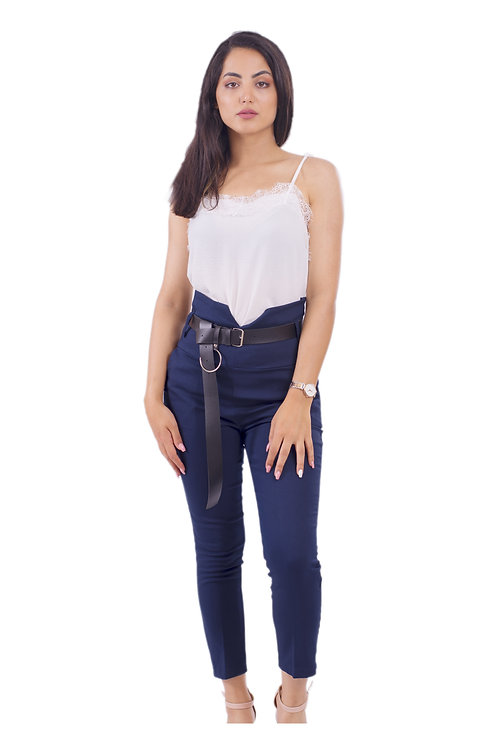 VICTORIA SKINNY FIT PANTS-BLUE