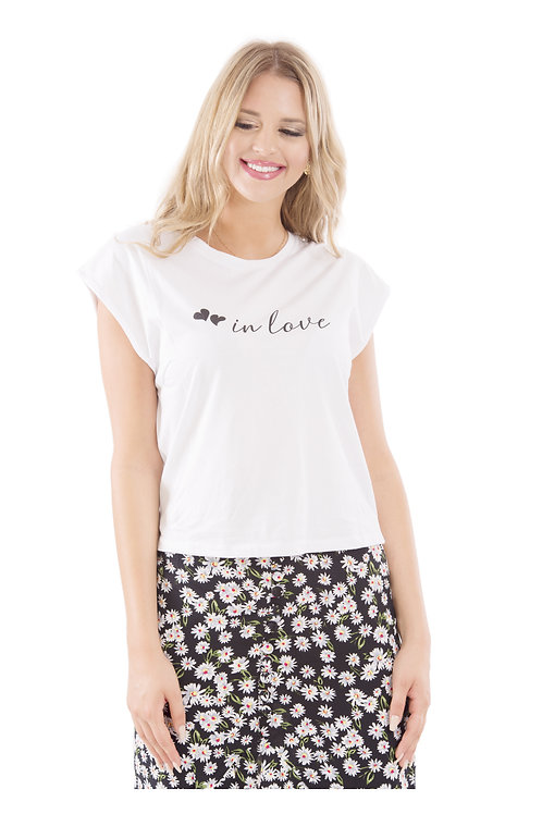 IN LOVE WHITE T-SHIRT