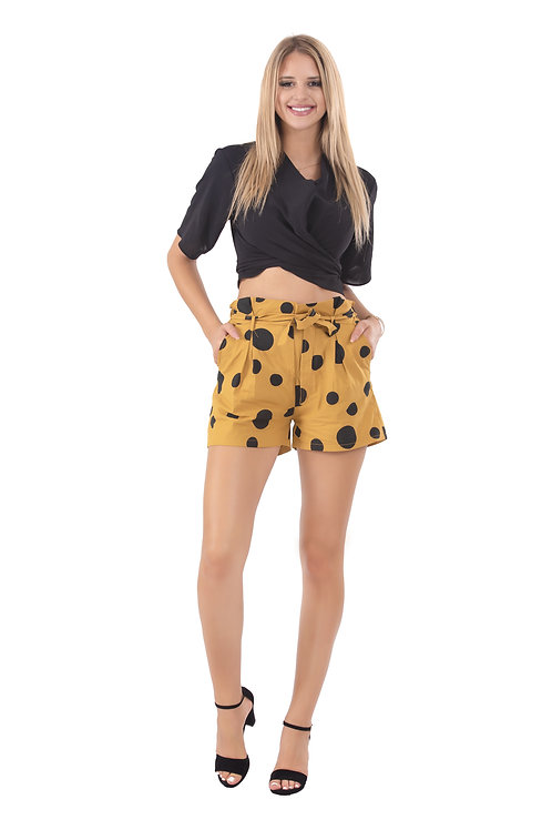 RUYA MUSTARD MINI SHORTS