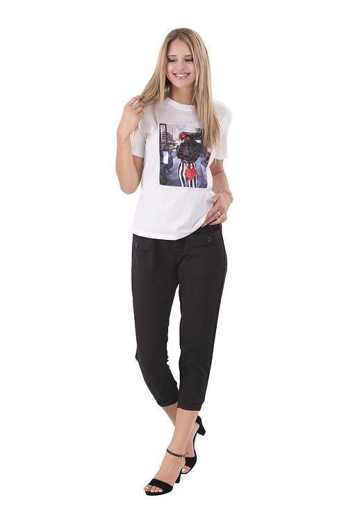 NYC GIRL WHITE T-SHIRT