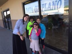 Morah Ahuva takes her class outside