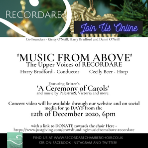 Music From Above - Online concert ft. A Ceremony of Carols