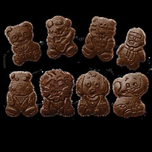 შაქრის ნამცხვარი ზოოპარკი შოკოლადში
