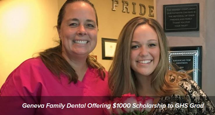 Geneva Family Dentistry, Scholarship, Glancer Magazine
