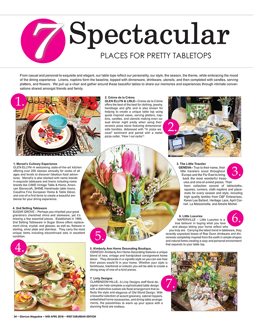 7 Spectacular Places for Pretty Tabletops, Glancer Magazine
