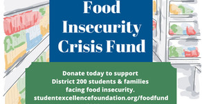 GIVING BACK | Food Insecurity Crisis Fund Created to Help District 200 Families—Please Donate