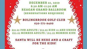 HOLIDAY 2019 | Breakfast with Santa at Bolingbrook Golf Club
