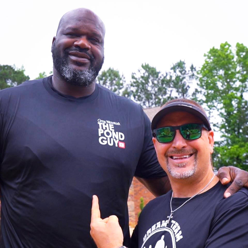 Home Design Aquascape In St Charles Installs A Water Feature For Nba Legend Shaquille O Neal