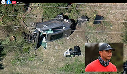 TIGER WOODS | Pulled from Wreckage of Serious Rollover Crash Using the Jaws of Life