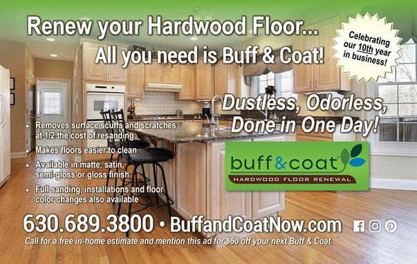 BEAUTIFUL FLOORS   Hardwood Floor Maintenance with Buff & Coat