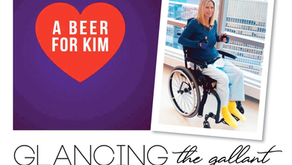 GLANCING THE GALLANT | Local Shooting Victim Remains In Good Spirits, A Beer for Kim Fundraiser Set
