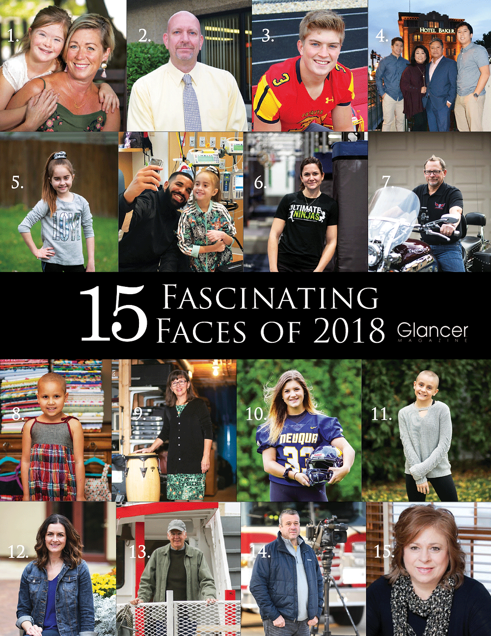 15 Fascinating Faces of 2018, Glancer Magazine