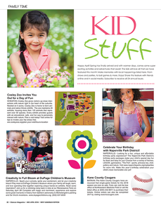 Kid Stuff, Mid April, Glancer Magazine 2018