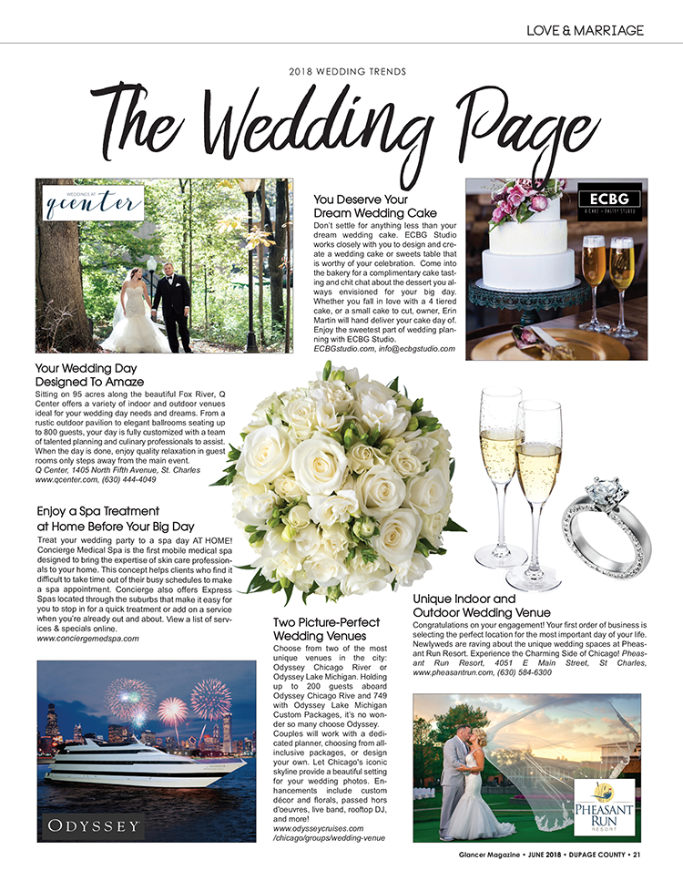 The Wedding Page, June 2018, Glancer Magazine