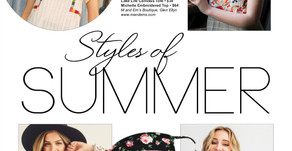 SUMMER STYLE | Embroidered Tops, Fab Face Masks & More Found at these Local Area Boutiques