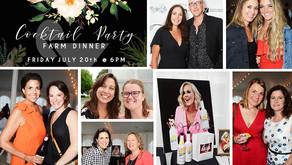SCENE AROUND SUBURBIA | Cocktail Party Farm Dinner, Elburn (July 20)