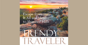 TRENDY TRAVELER | Escape From It All and Head to Shawnee Hills
