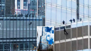 CHICAGO | Man Dangling From a Rope Off Trump Tower's 16th Floor