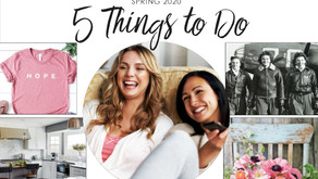5 THINGS TO DO ONLINE   April 2020