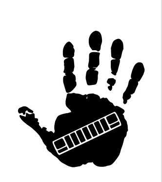 Hand Print Decal