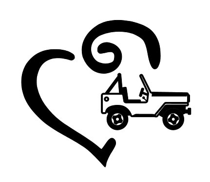 Jeep Heart Decal