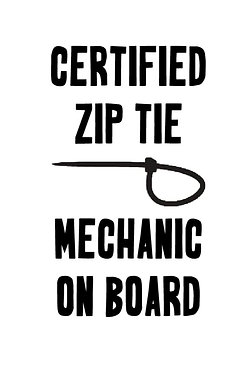 Certified Zip Tie Mechanic Decal