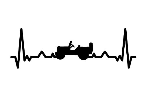 Jeep Heartbeat Decal