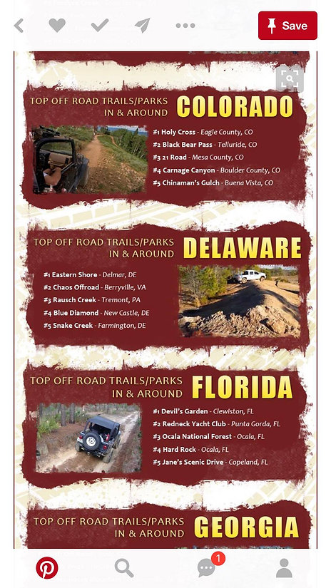 ESJA is recognized as having the best off roading trails in Delaware