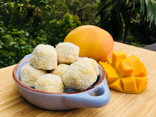 Mango and Coconut Bliss Balls