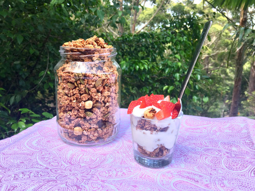 Strawberry and Hazelnut Granola