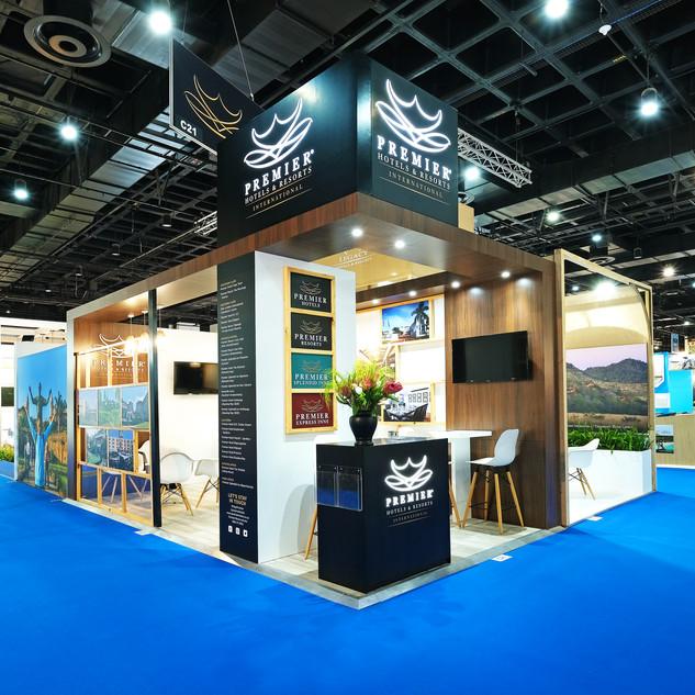 Premier Hotels at Meetings Africa, 18sqm Custom Stand