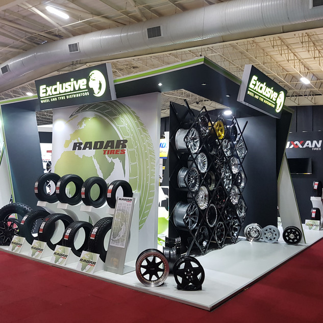 Exclusive Tyres at Tyrexpo Africa, 78sqm Custom Stand