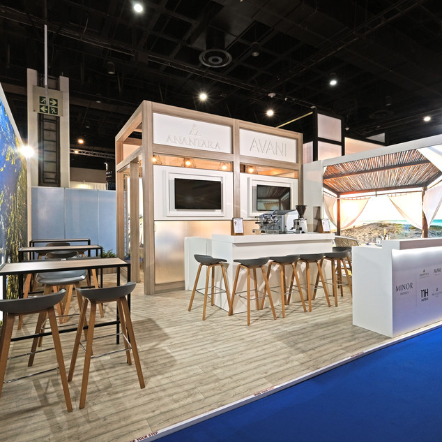 Minor Hotels at Meetings Africa, 36sqm Custom Stand