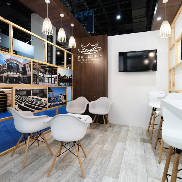 Premier Hotels at Meetings Africa, 18sqm Custom Stand